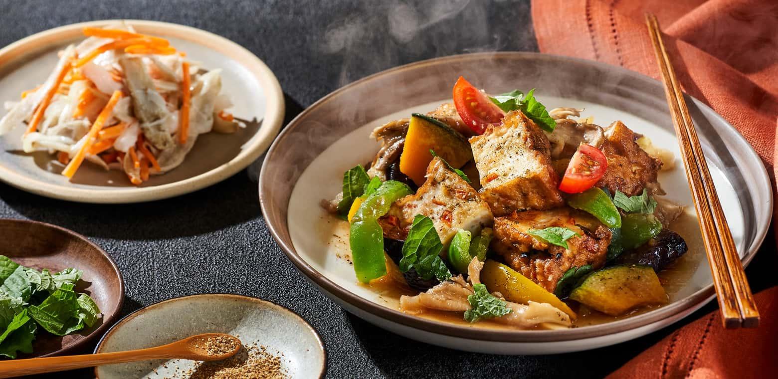 彩野菜と生揚焼き浸し