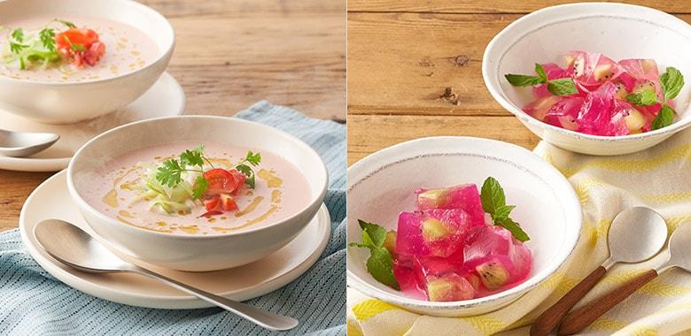 食卓に春をプラス!トマトスープ&春色ゼリーKitセット