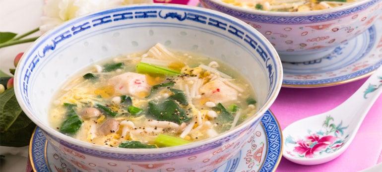 [Kit]青菜ときのこのカニ団子中華スープ