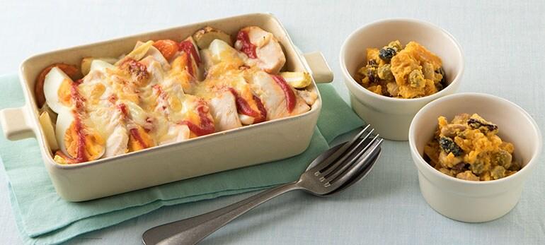 Kit2人前/蒸し鶏とたまごと根菜チーズ焼き