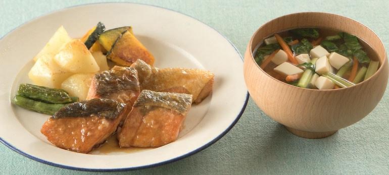 [Kit]とりわけOK!鮭のこんがりバター醤油照り焼き