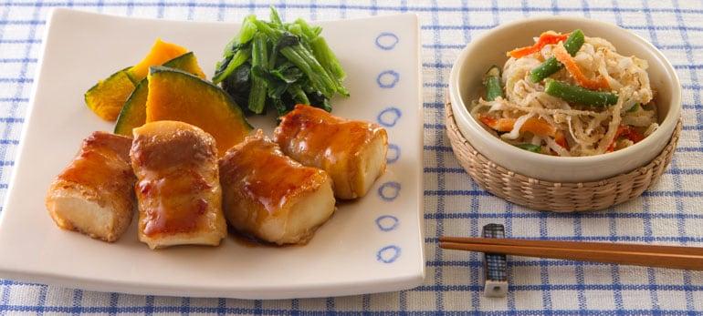 Kit2人前/便利な肉巻き豆腐のオイスター照焼