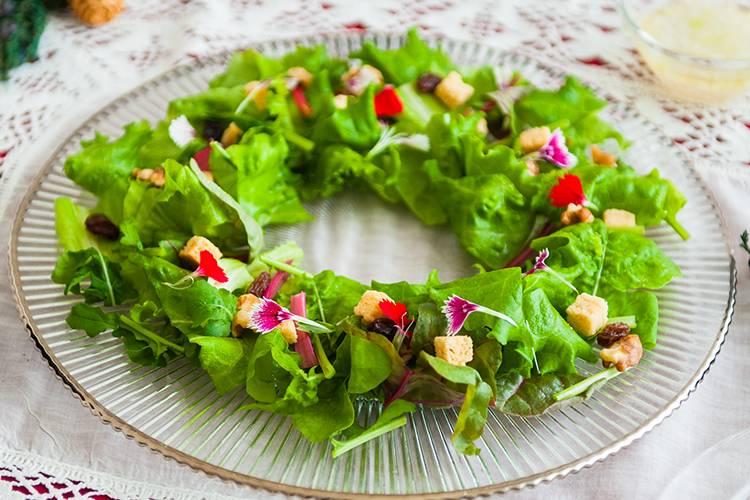 [Kit]お花で彩る Xmasリースサラダ