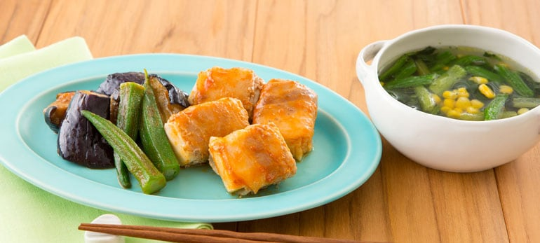 Kit2人前/包丁いらず!肉巻き豆腐の和ステーキ