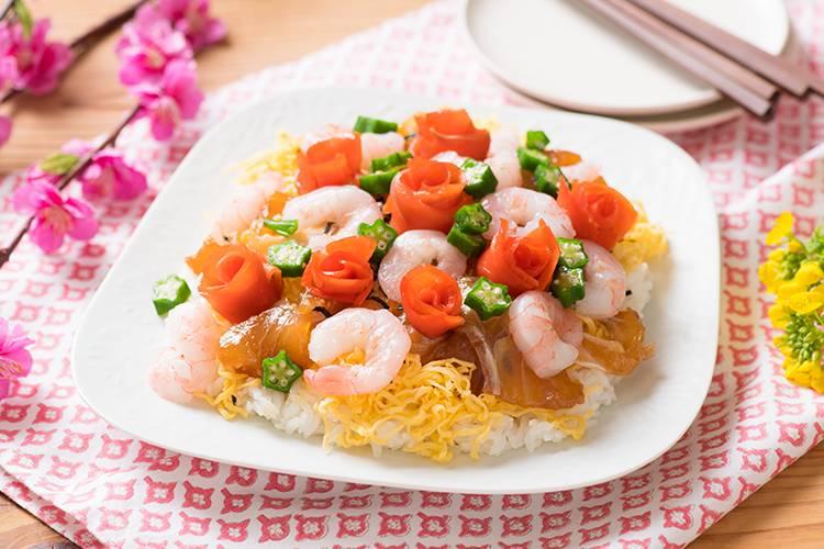[Kit]サーモンのお花で飾り付け!海鮮ちらし寿司
