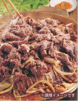 牛肉のプルコギとサムジャンのセット