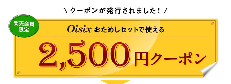 2,500円割引のクーポンが発行されました