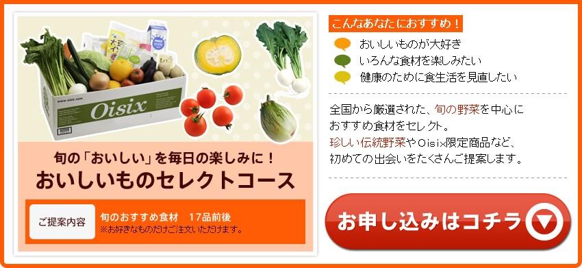 旬の新鮮な野菜を厳選 おいしいものセレクトコース