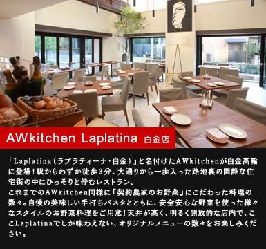 AW kitchen Laplatina 白金店
