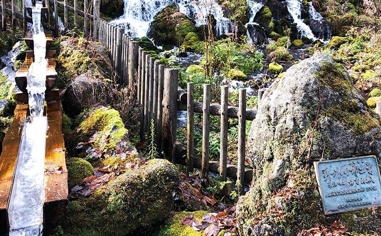 ゼリーは日本名水百選の源泉に寒天とくず粉をつかって後味さっぱり:イメージ