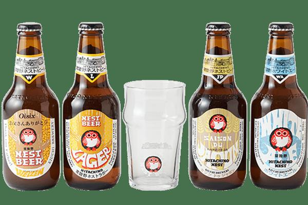 木内酒造 世界で愛される日本の地ビールグラスセット