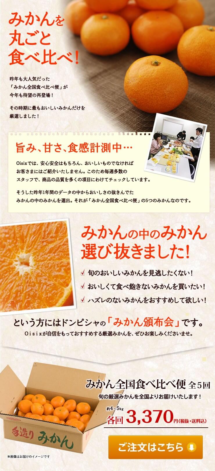 Oisixで販売しているすべてのみかんの旨み、甘さ、食感を年間通じて計測