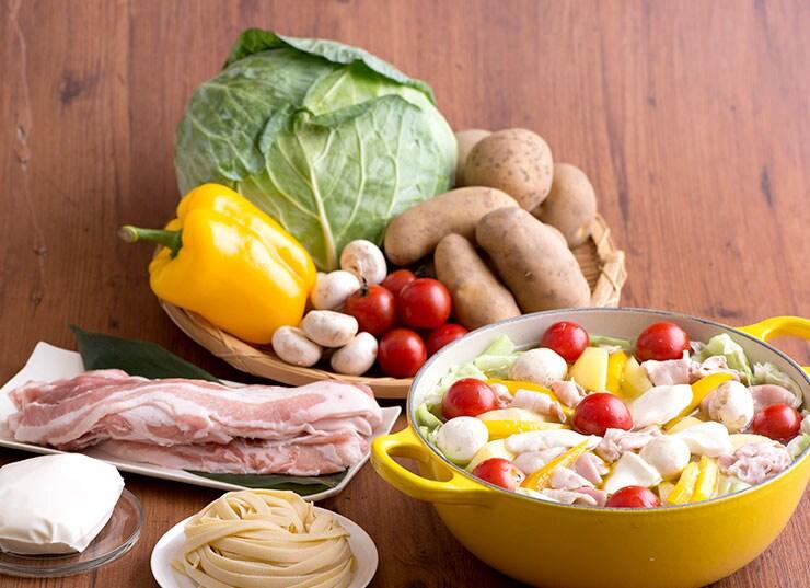 カラフル野菜6種と館ケ森高原豚をたっぷり360g
