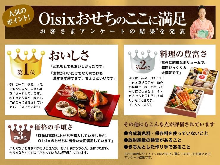 Oisixのおせちの満足の理由