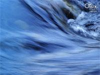 Oi water採水地の、豊かな清流