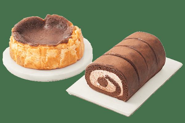 Oisixオリジナル バスク風チーズケーキ&チョコロールケーキセット