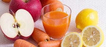 おいしくて飲みやすい無添加ジュースくびれ生活キャロット&アップル