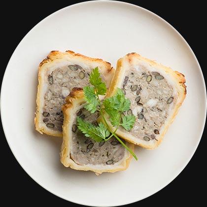 レンズ豆と塩豚のパテ・アンクルート