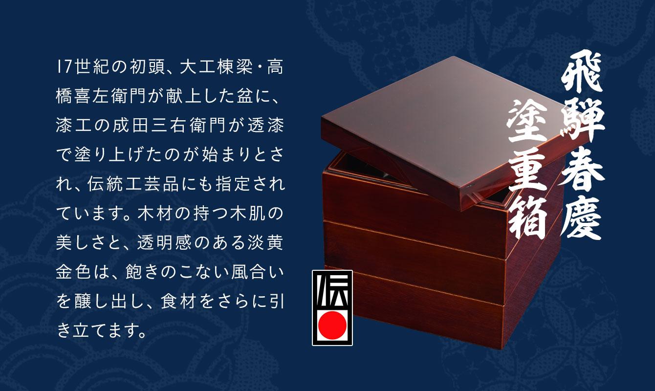 飛騨春慶塗重箱