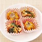 【お弁当】和風かぼちゃサラダと小松菜の煮びたし