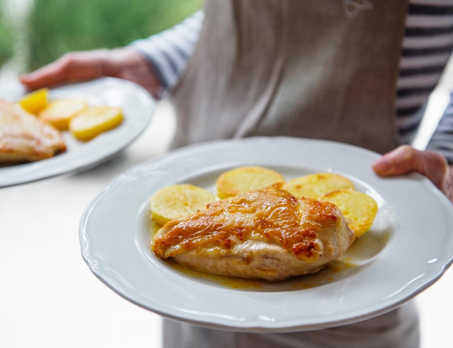 チキンの<br>レモンバターソテー