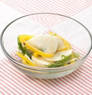かぶとパプリカの焼きサラダ