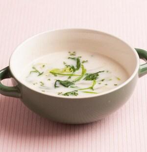 白菜とほうれん草のクリームスープ