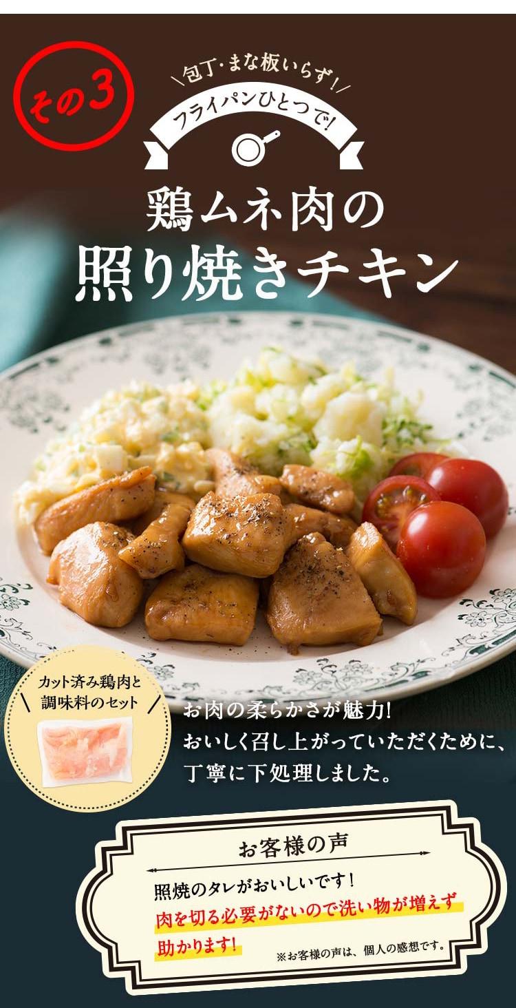 鶏ムネ肉の照り焼きチキン
