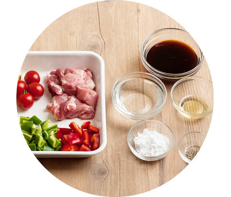 厳しい基準をクリアした安全な食材、調味料を使用しています